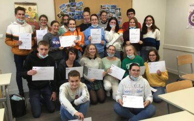 Remise des diplômes de certification en allemand